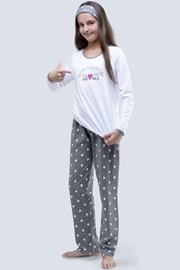 Dziewczęca piżama Meow biała