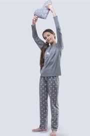 Piżama dziewczęca Meow szara