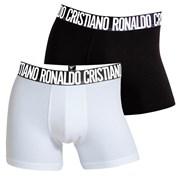 Dwupak męskich bokserek CR7 CRISTIANO RONALDO Black White