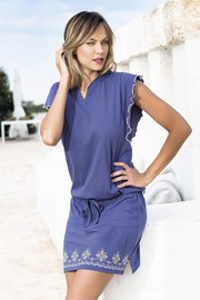 Sukienka letnia Santorini niebieska