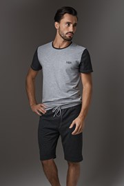 Męska piżama LISCA Thor Dark Grey Short