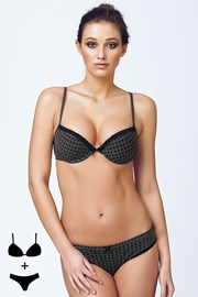 Komplet: Biustonosz Push-Up i figi 4388Grey