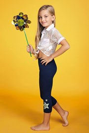 Dziewczęce legginsy Stella Glitter