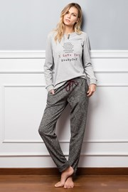 Damska piżama Janine szara