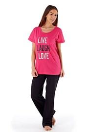 Damska piżama bawełniana Laugh Pink