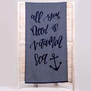 Ręcznik plażowy Marina niebieski