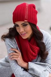 Damska czapka Amber czerwona