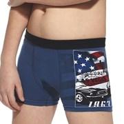 Chłopięce bokserki America niebieskie