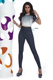 Damskie legginsy z dżinsowym wzorem Blair
