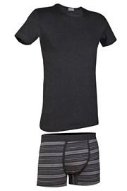 Męski komplet: T-shirt i bokserki Primal 166BA
