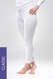 Damskie legginsy termiczne Classic - białe