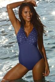 Jednoczęściowy kostium kąpielowy curves Dominica Navy