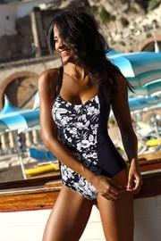 Jednoczęściowy damski wyszczuplający kostium kąpielowy Fiji Black