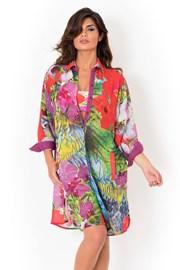 Włoska sukienka plażowa o koszulowym kroju marki David Mare