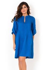 Włoska lniana sukienka letnia David Beachwear Blue 05