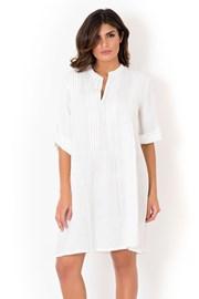 Włoska lniana sukienka letnia David Beachwear White 05