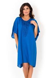 Włoska lniana sukienka letnia David Beachwear Blue