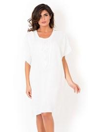 Lniana sukienka plażowa David Beachwear White