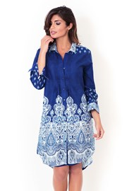 Włoska sukienka koszulowa David Beachwear z kolekcji Kerala