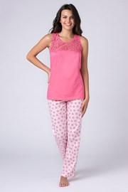 Damska piżama Jersey różowa