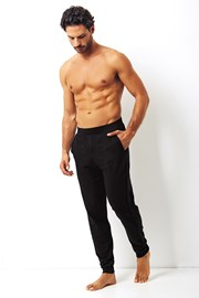 Męskie spodnie bawełniane Enrico Coveri czarne