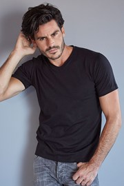 Męski luźny T-shirt bawełniany 1111