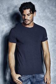 Męski T-shirt bawełniany 1504 Mel Blue