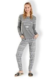 Włoska piżama damska Winter Grey