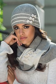 Elegancka damska czapka Felicia beżowa