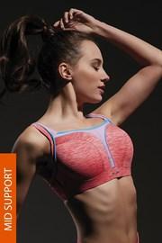 Biustonosz sportowy Flow Pink na fiszbinach