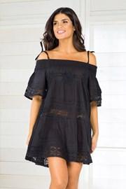 Włoska sukienka plażowa Iconique IC800 Black