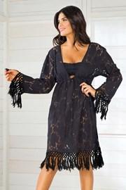 Włoska sukienka letnia Iconique IC8010 Black