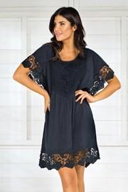 Włoska sukienka plażowa Iconique IC8013 Black