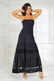 Włoska sukienka plażowa Iconique IC8016 Black