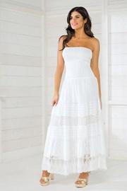 Włoska sukienka plażowa Iconique IC8016 White
