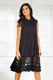 Włoska koszulowa sukienka letnia Iconique IC8017 Black