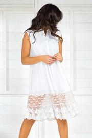 Włoska koszulowa sukienka letnia Iconique IC8017 White