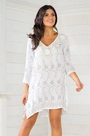 Włoska sukienka plażowa Iconique IC8020 z kamyczkami
