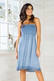 Włoska sukienka letnia Iconique IC8036 Jeans
