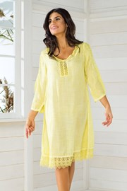 Włoska sukienka plażowa Iconique IC8057 Yellow