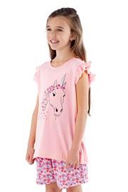 Dziewczęca piżama Polly krótka różowa