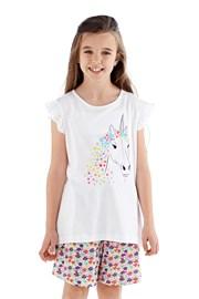 Dziewczęca piżama Polly krótka biała