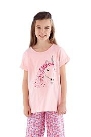Dziewczęca piżama Polly długa różowa