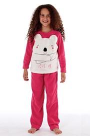 Ciepła dziewczęca piżama Bear
