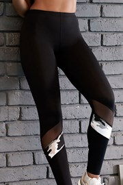 Damskie legginsy sportowe LORIN Army