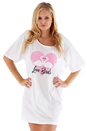 Koszula nocna Love Birds różowa
