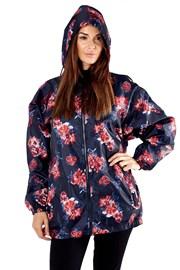 Nieprzemakalna damska kurtka ProClimate Floral. Składana w kieszeń