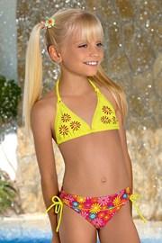 Dziewczęcy kostium kąpielowy Flower M46