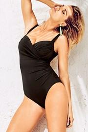Włoski jednoczęściowy modelujący kostium kąpielowy Miradonna Nemesis na fiszbinach