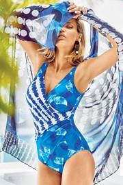 Jednoczęściowy modelujący kostium kąpielowy Miradonna Athena bez fiszbinów